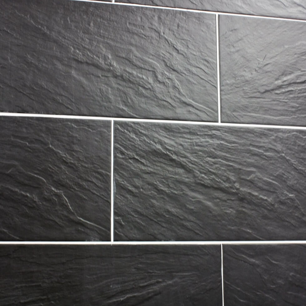 Wall and floor tiles page 3 nain black slate effect tiles on a wall dailygadgetfo Gallery