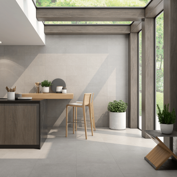 Plock Porcelain Floor Tiles in Futuristic Kitchen