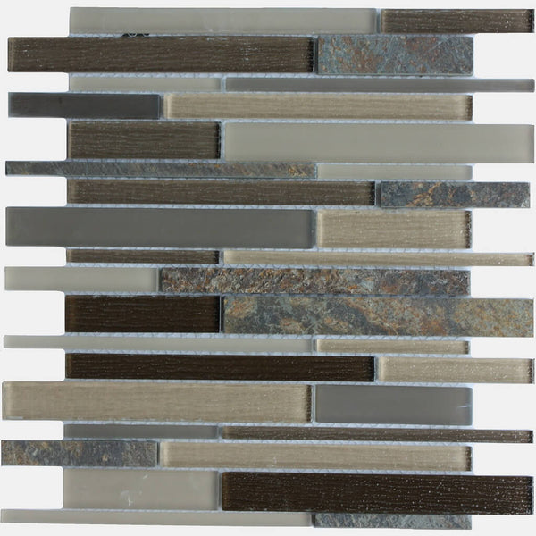 Sabor Grafito Mosaic Kitchen Wall Tile