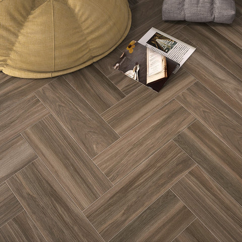 Sophie Wengue Wood Effect Floor Tiles