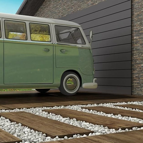 Teak Nogal Tile with Campervan