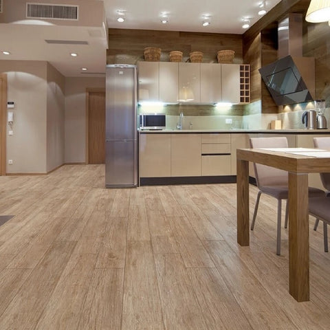 Toronto Oak in open plan Kitchen