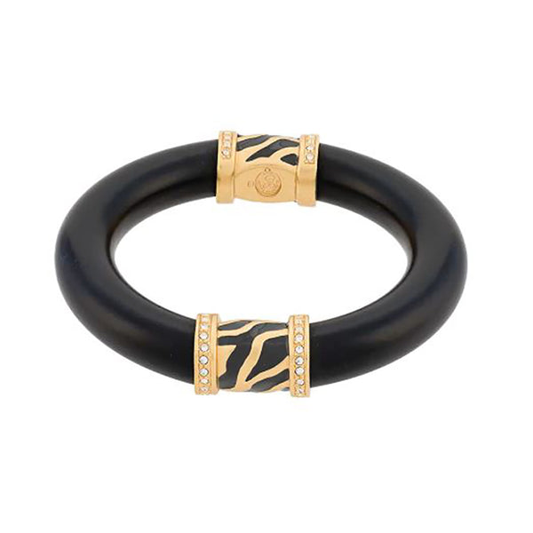 1990s Vintage Elisabeth Taylor Black Resin Bangle