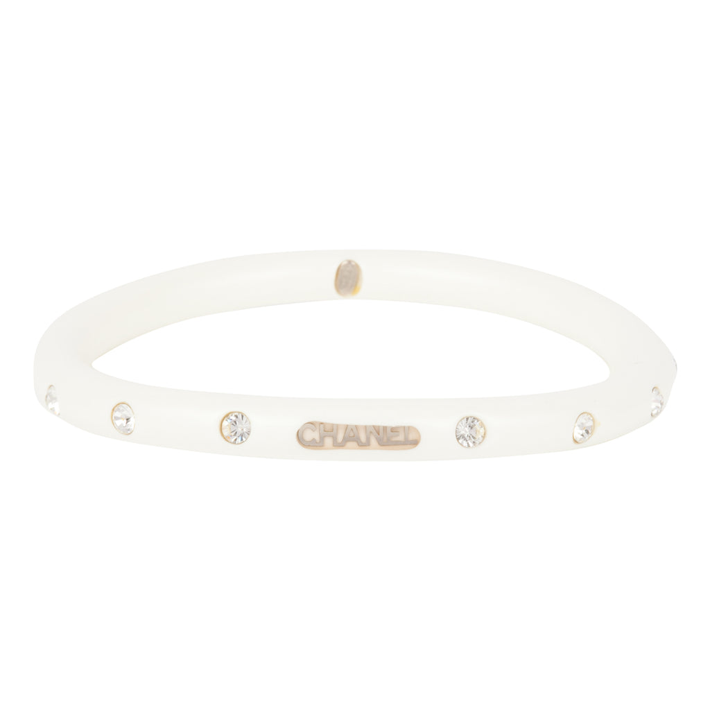 2002 Chanel Lucite and Crystal Bangle