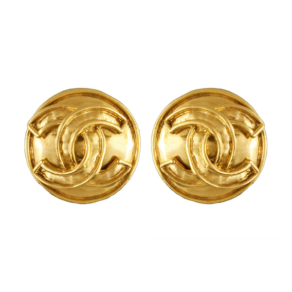 1994 Vintage Chanel Outlined Statement Clip-On Earrings