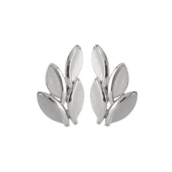 1960s Vintage Trifari Stylised Leaf Clip-On Earring