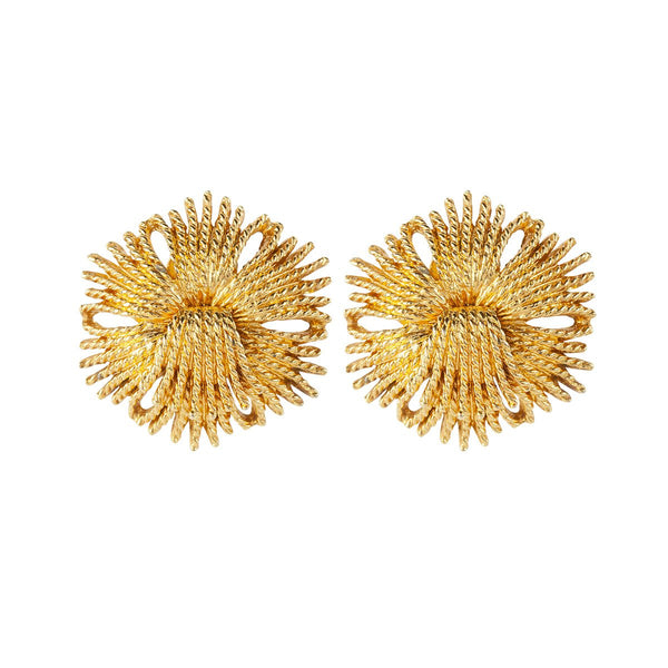 1960s Vintage Monet Cordelia Clip-On Earrings