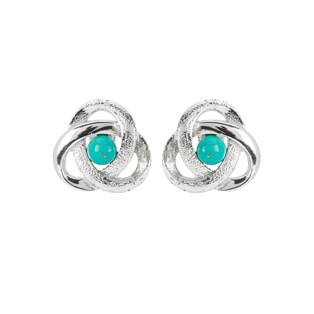 1960s Vintage Sarah Coventry Faux Turquoise Clip-On Earrings