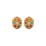 1980s Vintage D'Orlan Oval Earrings