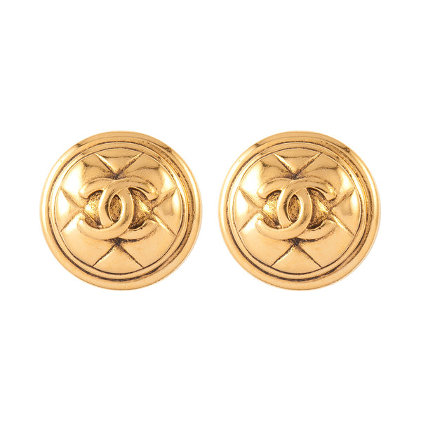 1980s Vintage Chanel Statement Clip-On Earrings