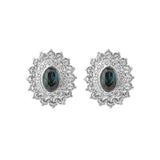 1980s Vintage D'Orlan Oval Crystal Earrings