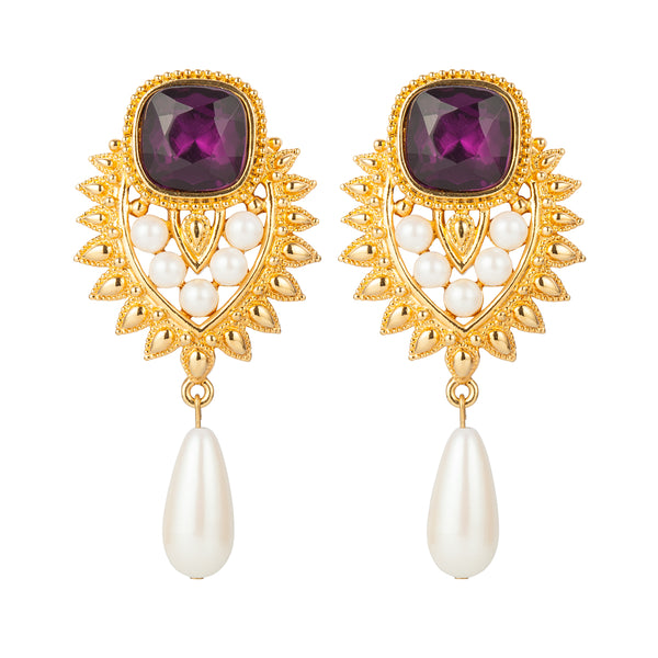 1990s Vintage Elizabeth Taylor Jhaveri Collection Clip-On Earrings
