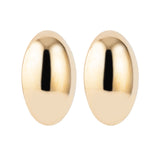 1980s Vintage Givenchy Statement Oval Clip-On Earrings