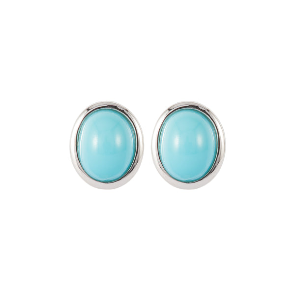 1980s Vintage D'Orlan Faux Turquoise Clip-on Earrings