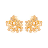 1980s Vintage Nina Ricci Flower Clip-On Earrings