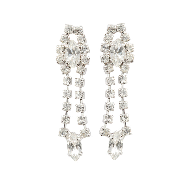1980s Vintage Chandelier Crystal Earrings