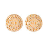 1980s Vintage Christian Dior Monogram Clip-On Earrings