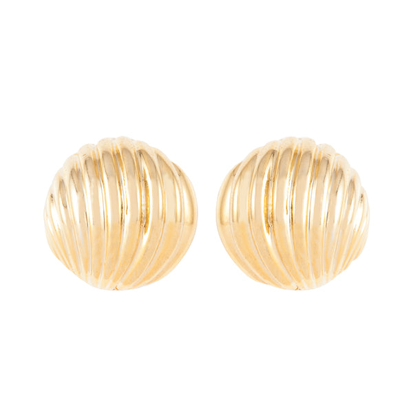 1980s Vintage Shell Clip-On Earrings