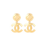 1990s Vintage Chanel Statement Clip-On Earrings