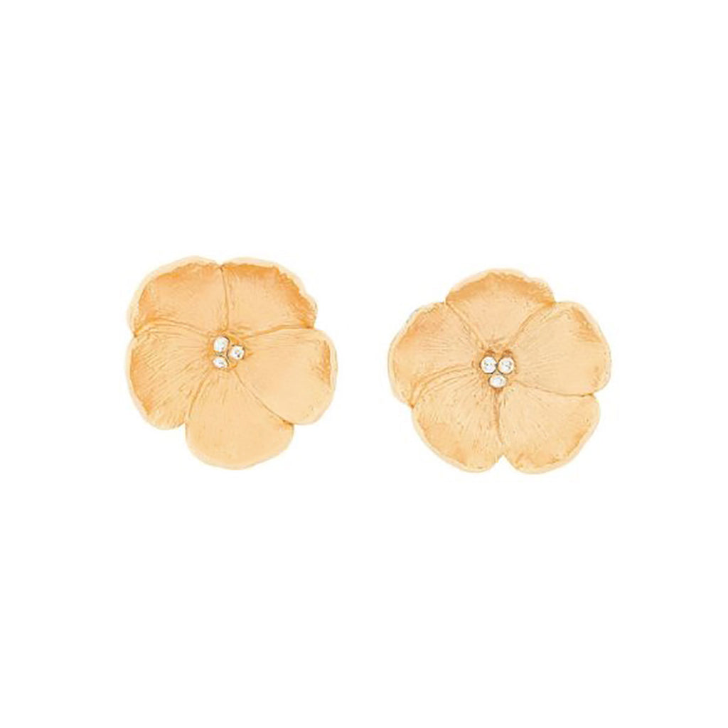 1970s Vintage Barrera Floral Clip-On Earrings