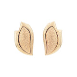 1970s Vintage Monet Brushed Clip-On Earrings