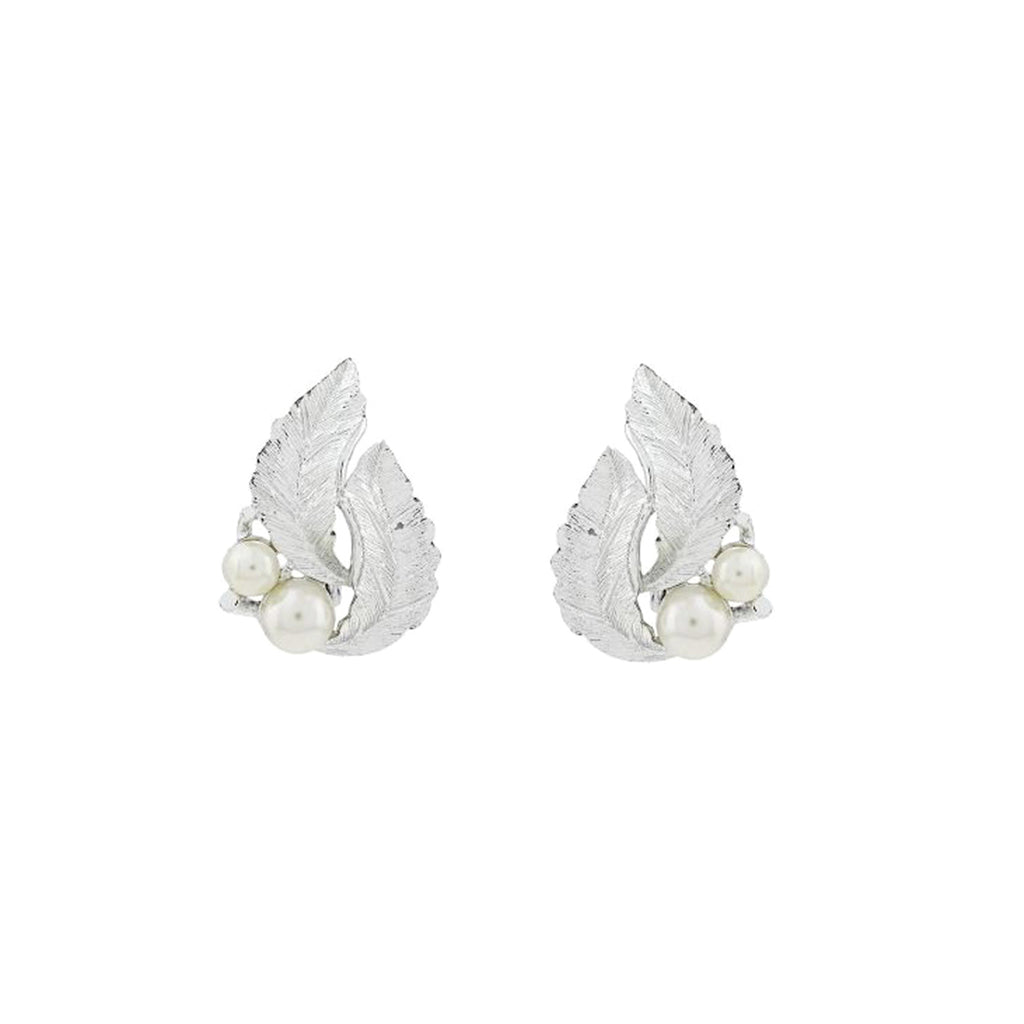 1970s Vintage Sarah Coventry Leaf Clip-On Earrings
