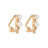 1980s Vintage Faux Pearl Clip-On Earrings