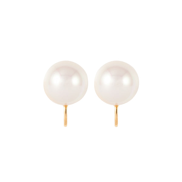 1980s Vintage D'Orlan Faux Pearl Clip-On Earrings