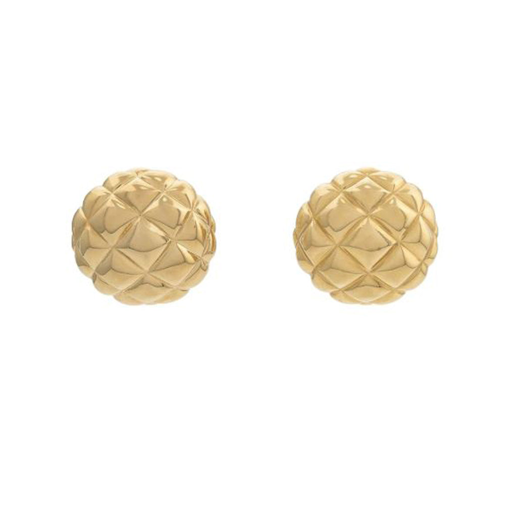 1980s Vintage D'Orlan Quilted Clip-On Earrings