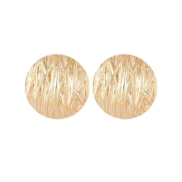 1980s Vintage Striated Clip-On Earrings
