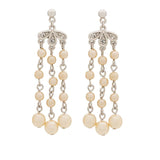 1980s Vintage Faux Pearl Dangling Earrings