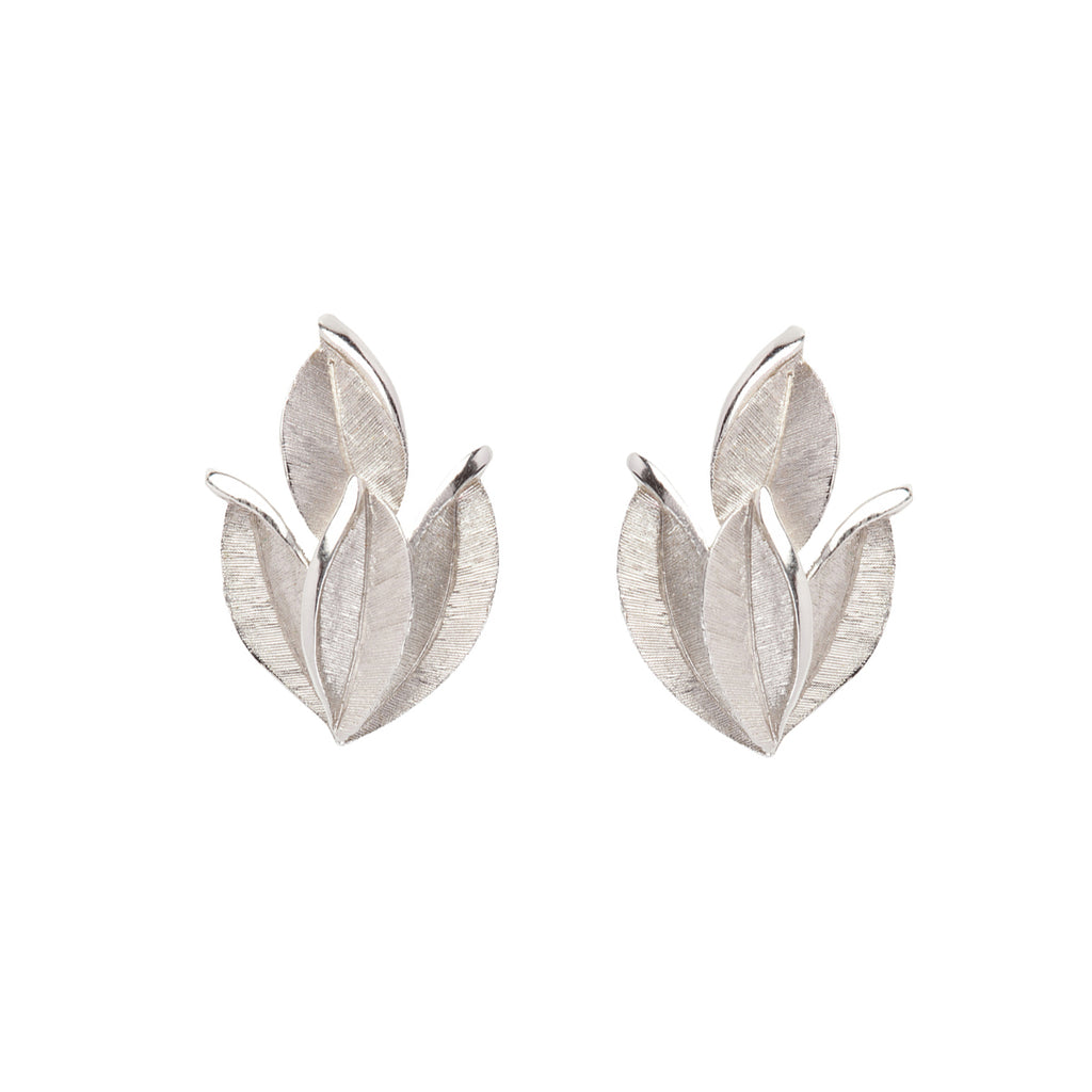 1960s Vintage Trifari Leaf Clip-On Earrings