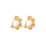 1980s Vintage Christian Dior Chain Clip-On Earrings