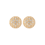 1980s Vintage Swarovski Round Clip-On Earrings