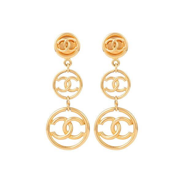 1993 Vintage Chanel Statement Clip-On Earrings