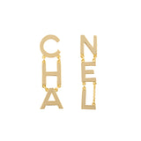 2019 Chanel Mismatched Statement Earrings