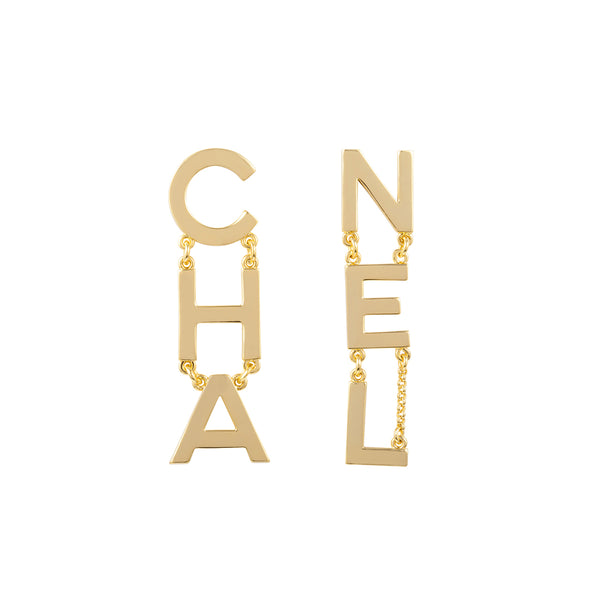 Chanel Mismatched Statement Clip-On Earrings