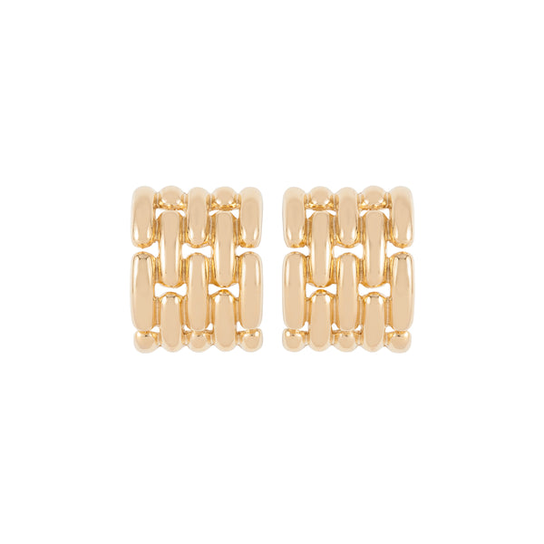 1980s Vintage Givenchy Weave Clip-On Earrings