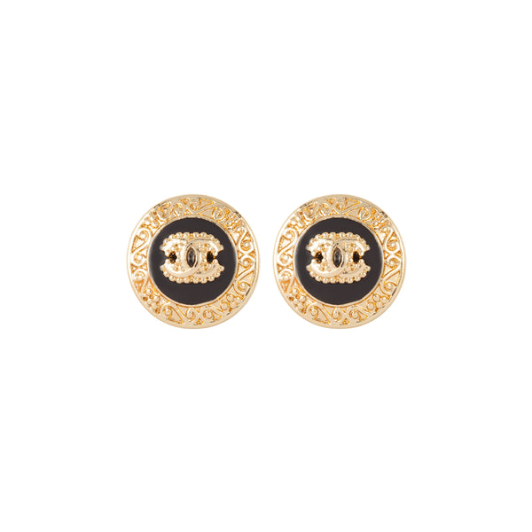 2017 Chanel Baroque Style Clip-On Earrings