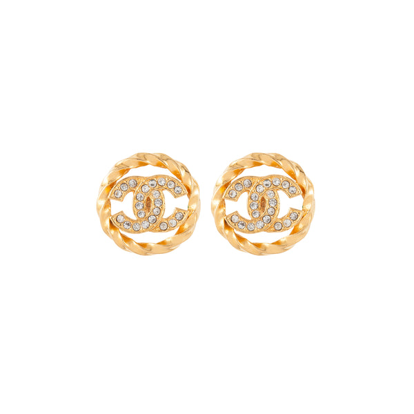 1980s Vintage Chanel Open Work Clip-On Earrings