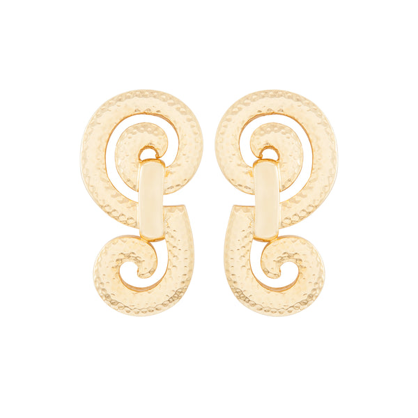1980s Vintage Christian Dior Spiral Clip-On Earrings