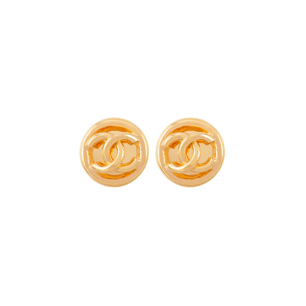 1993 Vintage Chanel Round Clip-On Earrings