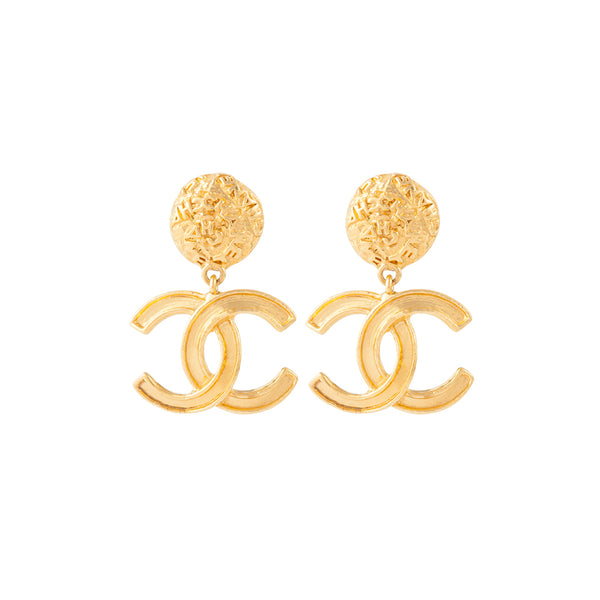 1995 Vintage Chanel Statement Clip-On Earrings