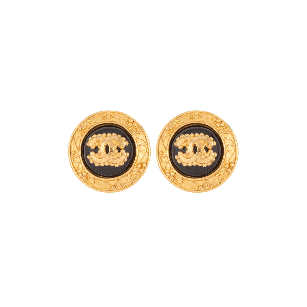 1996 Chanel Baroque Style Clip-On Earrings