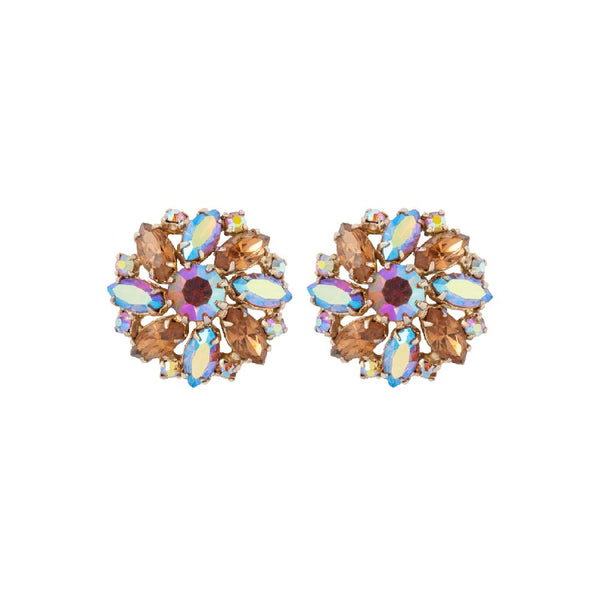1950s Vintage Weiss Swarovski Crystal Clip-On Earrings