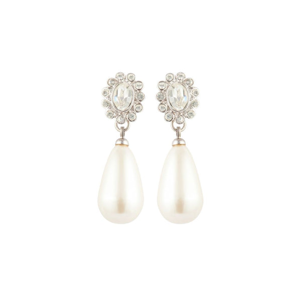 1990s Vintage Faux Pearl Drop Earrings