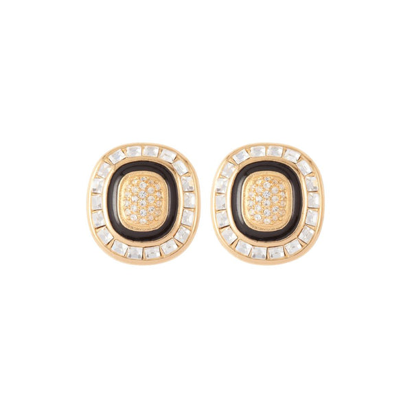 1980s Vintage Christian Dior Square Clip-On Earrings