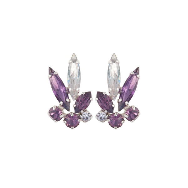 1950s Vintage G. Sherman Jewels Purple Clip-On Earrings