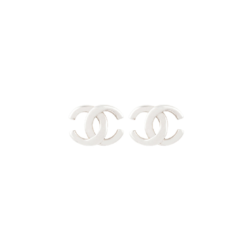 2001 Chanel CC Logo Earrings