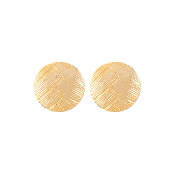 1980s Vintage Round Clip-On Earrings